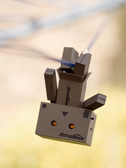 Hanging Around [10/52] (Jam-Gloom) Tags: olympusomdem5 olympusomd olympusuk olympus omd em5 macro 60mm28 60mmmacro28 60mmmacro depthoffield danbo danboard toy toyography toyphotography toys washingline project52 52weeks 52weekproject week10
