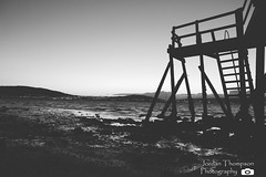 Hollywood Jetty (JT.Photography) Tags: sea bw white black mountains water night canon landscape grey flickr view edited jetty belfast cc hollywood northernireland flickrpro codown canon600d