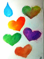 hearts and a teardrop (Fihve) Tags: gua cores colours heart corao gota teardrop