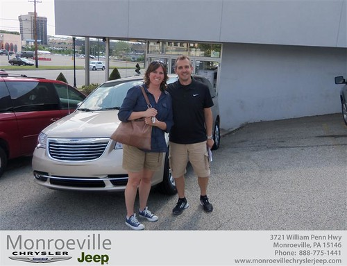 Monroeville Chrysler Jeep would like to say Congratulations to Jeffrey Thorsen on the 2013 Chrysler Town & Country