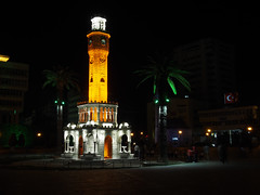 clock tower izmir (Igor Golovnov) Tags: city travel color tower history clock architecture night buildings turkey outdoors asia mediterranean place symbol time traditional famous decoration culture landmarks style architectural historic east ottoman marble middle monuments konak turkish locations izmir destinations