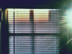 Illuminate (samanthaljones) Tags: door sunset sun sunlight window sunshine bright blinds sunrays shining