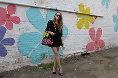 black lace dress ossington (Natalie Ast) Tags: toronto black floral bag graffiti dress 21 cove lace crochet style mini skirt nightclub short blonde forever hm 31 handbag ossington macaroons