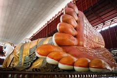Reclining Buddha at Chauk Htat Gyi Paya (Lil [Kristen Elsby]) Tags: travel asia southeastasia buddha yangon burma buddhist religion buddhism getty myanmar topv3333 gettyimages rangoon giantbuddha recliningbuddha travelphotography chaukhtatgyipaya chaukhtatgyi giantrecliningbuddha canon5dmarkii myanmar2012