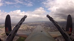 Cockpit Footage from WWII Lancaster Bomber Over London for HM The Queen's Birthday (Defence Images) Tags: video aircraft cockpit lancaster onboard battleofbritainmemorialflight