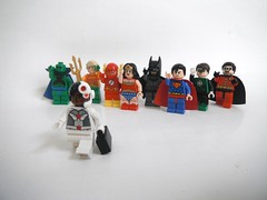Cyborg minifigure (1upLego) Tags: 2 green justice lego flash superman wonderwoman batman lantern superheroes cyborg bye decals league martian aquaman manhunter robini
