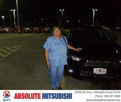 Absolute Mitsubishi would like to wish a Happy Birthday to Evelyn Holmes! (Absolute Mitsubishi) Tags: new car sedan truck happy dallas texas tx used mesquite bday dfw van minivan suv coupe mitsubishi dealership absolute shoutouts hatchback dealer customers 4dr metroplex 2dr preowned