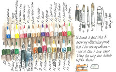 23Jun13 travel sketchkit (alissa duke) Tags: pencil wrap sketchkit watercolourpencils pencilroll