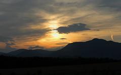 Slovakian sunset (IanSutton) Tags: sunset mountain mountains color colour yellow canon eos dusk