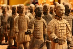 W4R. (Influx Photo's) Tags: lighting shadow brown black sorry army this miniature war time edited disney figurines clay soldiers tradition terra cotta