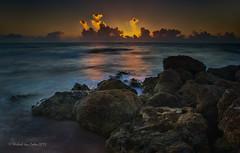 Morning in South Florida (MyKeyC) Tags: sunrise rocks deerfieldbeach beachrocks oceansunrise rockysunrise deerfieldsunrise