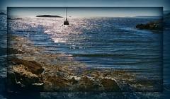 The Horizon beckons (MissyPenny) Tags: blue usa water rocks maine ustravel kodakz990