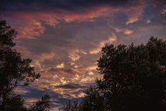 Colorful Sky at Dusk (Gary.Lamprecht) Tags: sunset sky clouds canon colorful skies topaz t1i