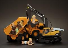 Weird!! (adampop) Tags: bear truck toys babies teddy digger