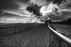 The Gallops (djshoo) Tags: nottingham sky horses storm clouds fence landscape blackwhite newark nottinghamshire wideanglelens sigma1020 2013 gallops