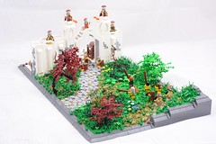 Hadrian's Wall (LukeClarenceVan) Tags: trees plants rome castle leaves wall kilt lego roman britain contest scottish battle foliage toss british bagpipes entry caber hadrians scotsmen lukeclarencevan