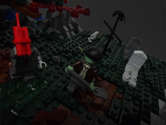 14 (CyberPacket) Tags: wood city house tree chicken water monster forest river skeleton cow town woods cows lego zombie tire cyclops dracula frankenstein freak monsters fighters moc