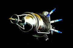 Tattoo Ray Gun - Complete (Spaceboyd.com) Tags: fiction art tattoo recycled science scifi fi recycle sci raygun reuse steampunk junkart upcycle upcycling seanboyd