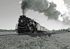 NKP 765 races Wb toward Saint Charles Mo. (Machme92) Tags: railroad heritage norfolk trains steam railroads norfolksouthern railfanning nkp765