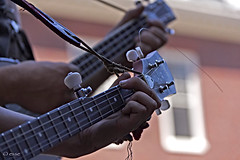 *through the bars of a rhyme...* (+2) (_esse_) Tags: street music bicycle boston ukulele harvard nail fingers banjo buskers instruments rhyme luciedombre micafacile throughthebarsofarhyme