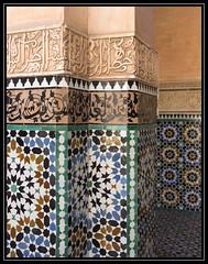 Moroccan patterns (Ciao Anita!) Tags: friends ceramics mosaic mosaico morocco tiles marocco medina marrakesh marokko keramiek tegels mattonelle mozaïek ceramiche zellig theperfectphotographer marrakechtensiftalhaouz fotoworkshopnl