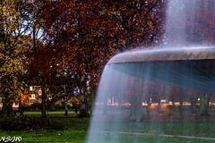 Veil over autumn. (NSJW photos) Tags: autumn trees water fountain veil centralpark scunthorpe