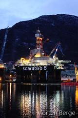 Scarabeo 8 (MortenBerge) Tags: shipyard oilrig eni saipem vindafjord westcon lensvg scarabeo8 westconyard westcongroup