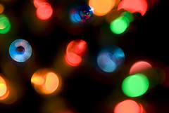 defocused christmas lights (prosserbass) Tags: christmas xmas abstract blur festive holidays glow seasonal outoffocus celebration fairylights defocused incandecent minilights filamentlamp