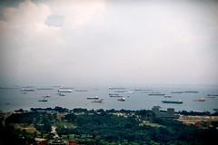 Singapore Marina Bay Sands (Nick van Gelder) Tags: film marina bay singapore sands 135mm holga135bc