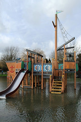 Thames in Flood - January 2014_21 (8th) - Chertsey Meads (Graham Dash) Tags: thames flooding surrey riverthames floods chertsey chertseymeads playareas childrensplayareas