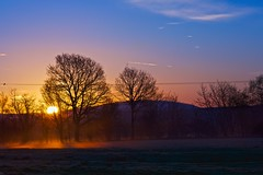 Beautiful Start to the day (jayneboo - I'll be back soon) Tags: sunrise relax shropshire fields morningmist odc wrekin