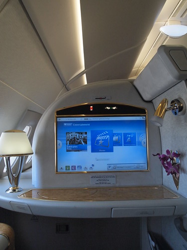 エミレーツA380ファーストクラス機内