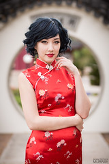Happy Chinese New Year! (Adam Patrick Murray) Tags: red hot asian dress cosplay chinese babe newyear wig cosplayer yearofthehorse amielynn