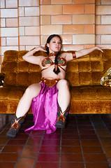 DSC_0297 (Studio5Graphics) Tags: hot sexy girl fun star starwars chains cool model nikon cosplay modeling wars cosplayer collar leia slave collared 2014