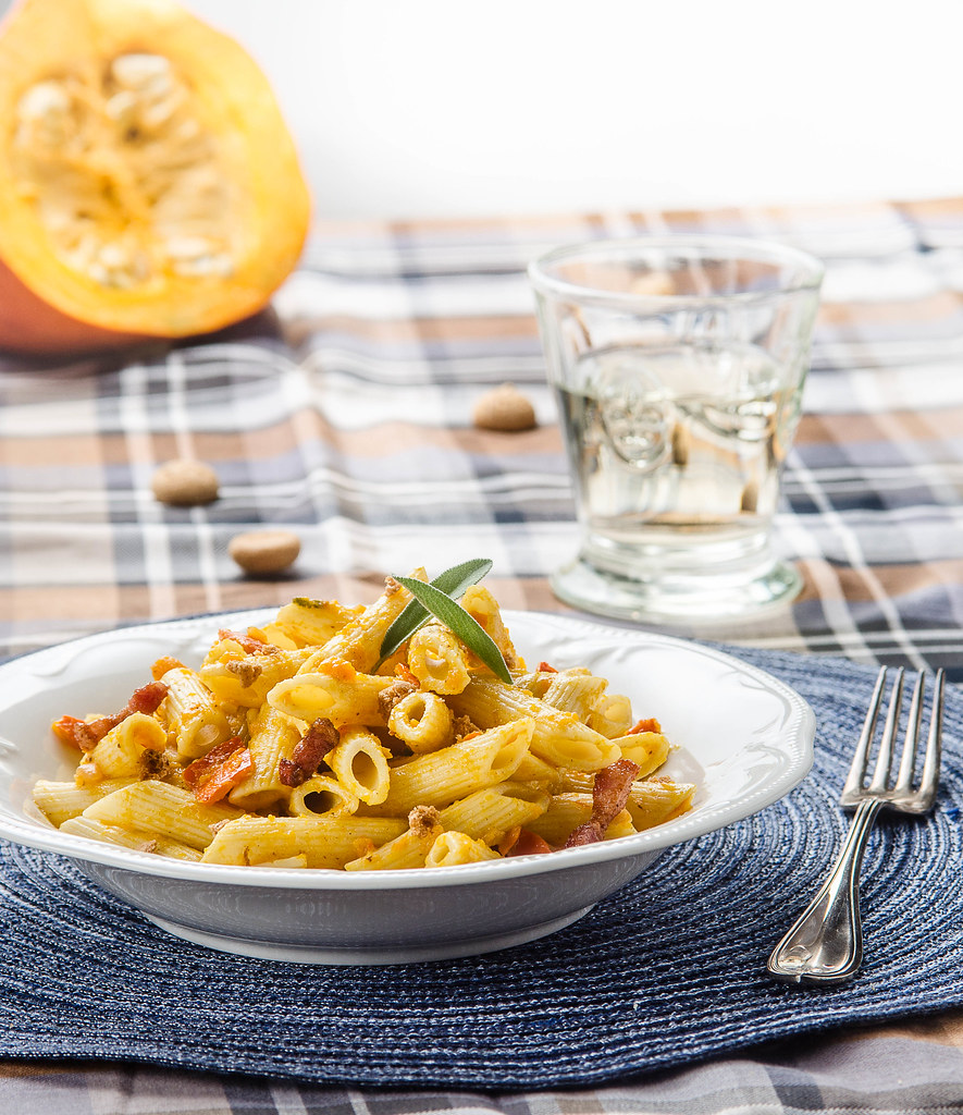 Penne With Pumpkin And Sage Sauce Recipe — Dishmaps