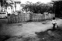 Morning (futyesz) Tags: street travel blackandwhite bw rural asia child burma 28mm myanmar gr ricoh bagan 5photosaday