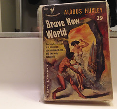 Early Paperback Copy of BRAVE NEW WORLD by Aldous Huxley (ChrisGoldNY) Tags: california vintage poster losangeles forsale coverart literary books literature retro paperback posters scifi albumcover sciencefiction bookcover southerncalifornia bookcovers paperbacks albumcovers novels licensing bantam iphone dystopian laist losangelescounty bravenewworld aldoushuxley chrisgoldny chrisgoldberg chrisgold chrisgoldphoto chrisgoldphotos