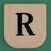 Line Word black letter R