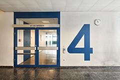 4th Floor (jrej www.gregoirec.com) Tags: blue white building berlin architecture modern canon germany office plattenbau dri tempelhof gesundheitsamt 5dmarkii tse17mmf4l