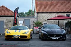 Hardcore Cousins (MJParker1804) Tags: black sport yellow italia cousins stripes convertible ferrari mc giallo hardcore gran turismo cabrio rare v8 maserati stradale speciale cabriolet granturismo 458 grancabrio