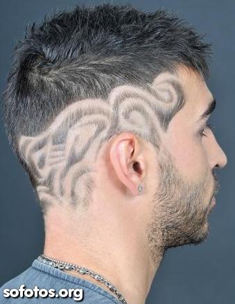 cabelos masculinos com tribais