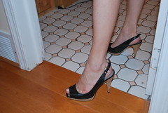 Slingback Heels (Ped-antics) Tags: sexy sandals sexytoes sexyfeet shoes sexywoman skirt feet female foot footfetish femalefeet toes heels highheels heelfetish ankles arches