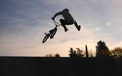 Biker (kchocachorro) Tags: biker jump landscape