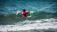 2016 - Mexico - Zihuatanejo - Playa Blanca Net Toss (Ted's photos - Returns Mid May) Tags: 2016 cropped mexico nikon nikond750 nikonfx tedmcgrath tedsphotosmexico vignetting zihuatanejo fishing barradepotosi net throwing water playablanca ocean