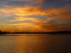 Tempe, AZ Tempe Town Lake at Sunset (army.arch) Tags: tempe arizona az phoenix lake tempetownlake water sunset bridge sky clouds
