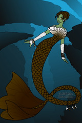 Bram Mermaid (Hallowtween RP) Tags: bram mermaid genderbend finkelstein hallowtween bramfinkelstein doctorsfinalcreation