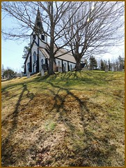 Religion has deep roots (Walter A. Aue) Tags: shadow canada tree church spring novascotia religion  hubbards walteraaue