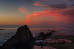 Seal Rock Sunset (ZLBlackwood) Tags: ocean sunset oregon coast sealrock