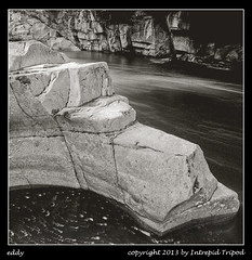 eddy (Intrepid Tripod) Tags: longexposure blackandwhite detail fall rock stone river square flow tripod september 120film 1984 6x7 eddy eddies mamiyarb67 scannedfromnegative skykomishriver ushighway2 r67 stevenspasshighway plusxprofessional pxp120