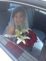 The Bride (il0vejulia) Tags: wedding white bride bouquet gown